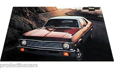 1971 Chevrolet Nova Original Poster - Sales Sheet Brochure - 11x18