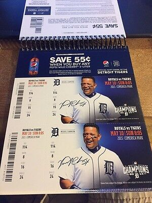 2015 Detroit Tigers Season Ticket Stub Pick Your Game Cabrera Price Lindor Debut