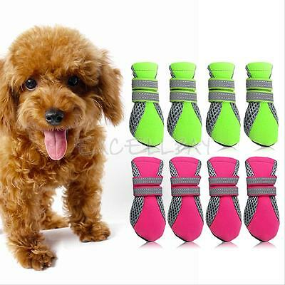 Pet Dog Puppy Casual Boots Water Repellent Anti-Slip Protective Booties Shoes
