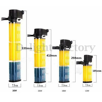 800L/H-1600L/H Aquarium Internal Pond Pump Filter Filtration Fish Tank Spray Bar