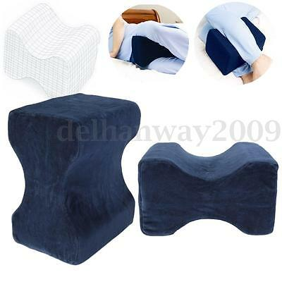 Contour Memory Foam Leg Pillow Orthopaedic Firm Back Knee Support+ Cover Relieve