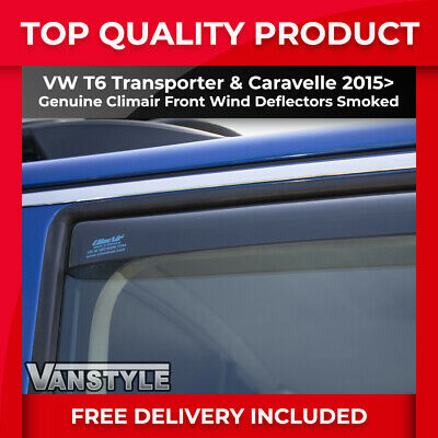 Vw T6 2015> Transporter Genuine Climair Front Wind Deflectors Top Quality Tint