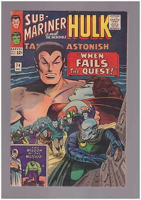 Tales to Astonish # 74  When Fails the Quest !   grade 6.0  scarce book !