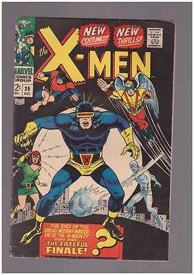 X-Men # 39  The End of the Dread Mutant-Master !  grade 6.0  scarce book !