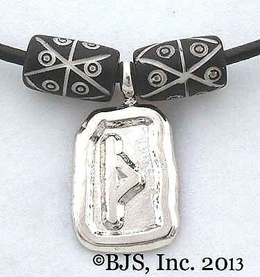Thurisaz Rune Necklace, Strength & Force Amulet, Norse Rune Jewelry, Vikings