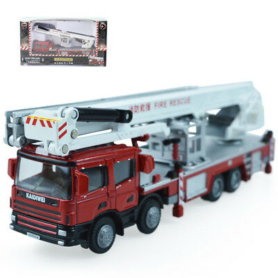 KDW 1:50 O Scale Diecast Aerial Fire Truck Construction Vehicle Cars Model Toys