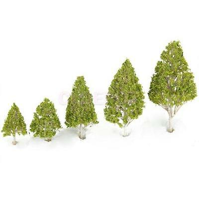 5pcs New Leaves Tree Model Multiple Scale for Train Railways Park Scenery Layout