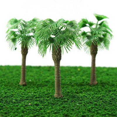 YS07 20pcs 4 inch Model Fan Palm Trees Model Layout Train Scale 1/60 O HO NEW