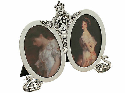 Sterling Silver Double Photograph Frame - Antique George V