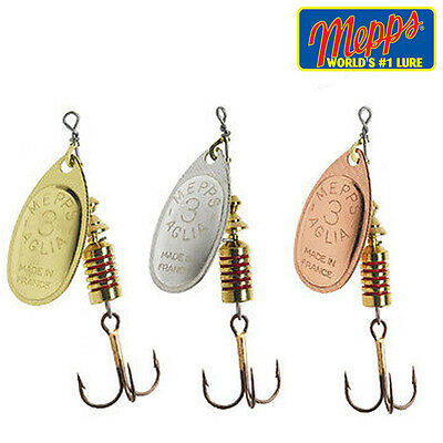 Mepps Aglia Silver,  Copper, Gold  Spinner  Fishing Lure Choose Size & Colour