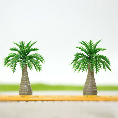 YS08 20 Model Bottle Coconut Palm Trees Model Layout Train Scale 1/60 O HO NEW