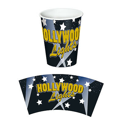 8 ct HOLLYWOOD LIGHTS Glamour Awards 9 oz hot/cold Paper Cups Birthday Party Tab