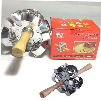 Fast Revolving Donut Cutter Maker Mould Molding Machines Safety Convenience HY