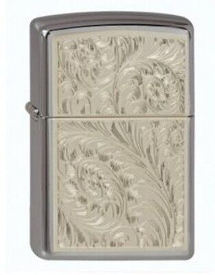 """ZIPPO """"ENGLISH SCROLL"""" BL.ICE BEAUTY LIGHTER / 1440147 * NEW in BOX *"""