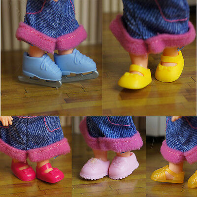 Handmade High quality Original 5 pairs shoes for barbie sister kelly doll a95