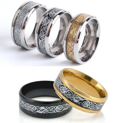 Love Gift Size 7-12 Titanium Steel Fashion Ring Couple Wedding Bands Jewelry Hot