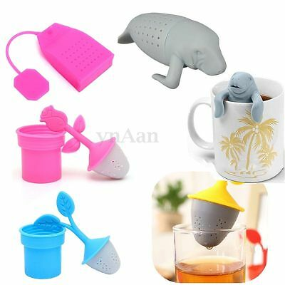Silicone Cup Mug Infuser Loose Tea Leaves Strainer Herbal Spice Filter Diffuser