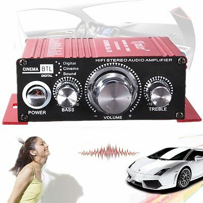 Mini 2CH Hi-Fi  Amplificateur Audio Stereo Amplifier Haut-Parleur MP3 Pr Voiture