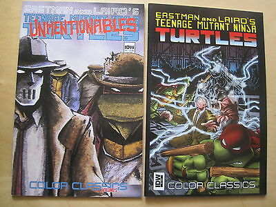 TEENAGE MUTANT NINJA TURTLES : COLOR CLASSICS  #s 2 & 9.EASTMAN,LAIRD. IDW. 2013