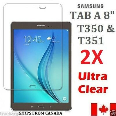 3X Clear Screen Protector Flim For Samsung Tab A 8 SM-T350 & T351