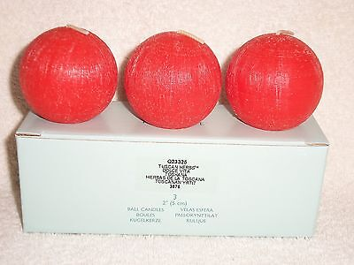 """Partylite Tuscan Herbs Mini Ball Candles 2"""" -- RETIRED"""