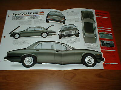 ★★1985 Jaguar Xj12 He Spec Sheet Brochure Photo Poster Print 85 79-93 Xj 12He★★
