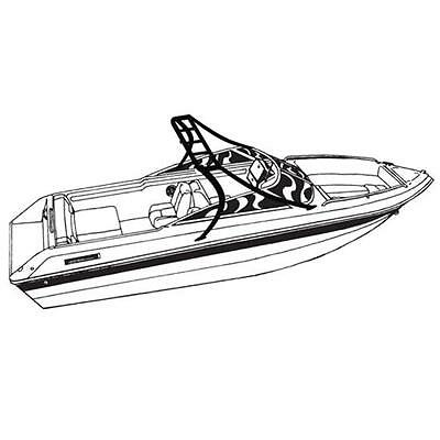 Deluxe V-Hull Fishing Tournament boat w/Ski Wakeboard Tower Boat Cover 21'L