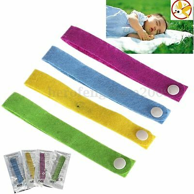 20pcs Mosquito Insect Repellent Natural Non-Toxic Wrist Band Bracelet Camping