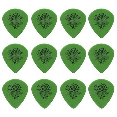 12 X Jim Dunlop Tortex Jazz Medium Sharp Guitar Picks *NEW* Jazz III 472RM3