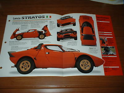 ★★1974 Lancia Stratos Spec Sheet Brochure Info Photo Poster Print 74 75 73★★