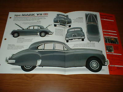 ★★1954 Jaguar Mark Vii Spec Sheet Brochure Photo Poster Print Info 54 50 51-57★★