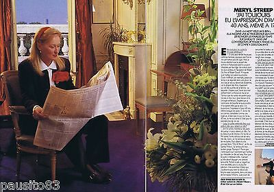 COUPURE DE PRESSE CLIPPING 1993 Meryl Streep  (2 pages)