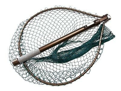 McCleans NEW Telescopic Hinged Handle Compact Fly Fishing Weigh Net - Free P+P