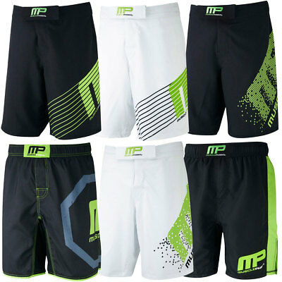 MusclePharm Mens Printed MP Woven Shorts Gym Stretch Sport Training Fitness