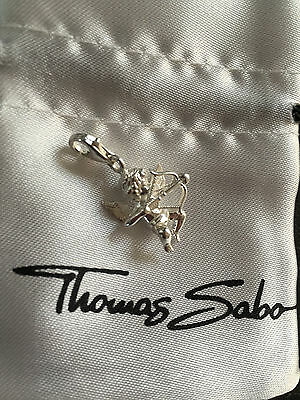 New Genuine Thomas Sabo Sterling Silver Cupid Statue Bracelet Charm RRP $99