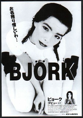 1994 Bjork photo debut +1 JAPAN polydor records album promo print ad b04r