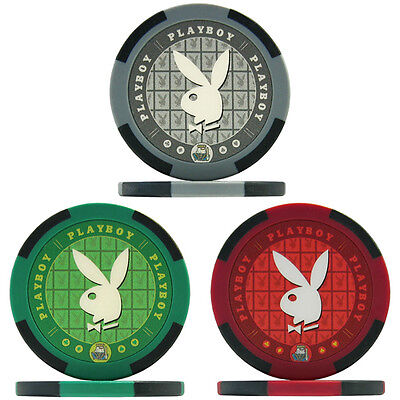 Playboy Poker Chips - Sample Pack of All 3 Colours / Golf Ball Markers