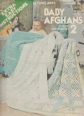 Leisure Arts Baby Afghans to Knit and Crochet 2 - 6 designs copyright 1977
