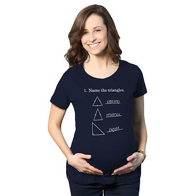Maternity Name The Triangles Math T Shirt Funny Pregnancy Tee for Women