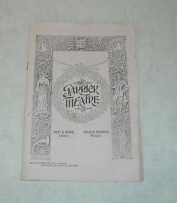 1900's GARRICK THEATRE SOUVENIR PROGRAM BOOKLET A MESSAGE from MARS CHAS HAWTREY