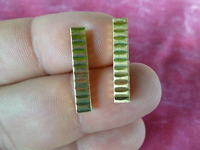 Pair Of Vintage 14 K Gold Hallmarked Cufflinks .17 Troy Ounces