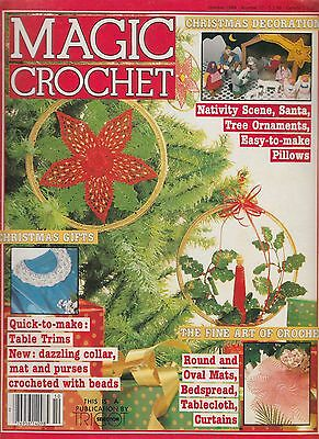 Magic Crochet #32 - 34 patterns doilies Christmas items tablecloth more