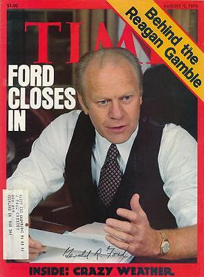 President Gerald Ford- Signed Time Magazine Cover from 1976