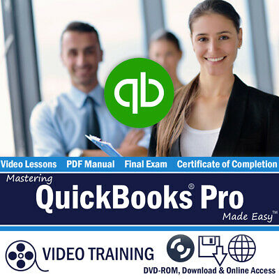 QUICKBOOKS PRO 2016 Training Tutorial DVD Course 184 Videos 9 Hours