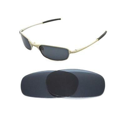 New Polarized Black Replacement Lens For Oakley Square Wire 2.0 Sunglasses