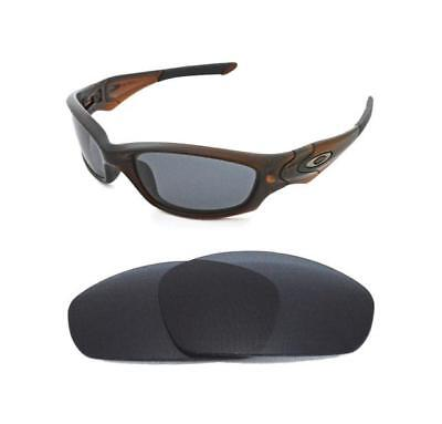 New Polarized Black Replacement Lens For Oakley Straight Jacket 2007+ Sunglasses