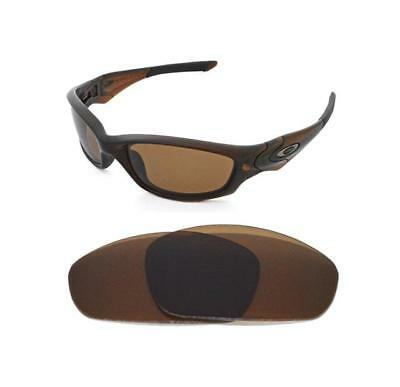 New Polarized Bronze Replacement Lens For Oakley Straight Jacket 2007 Sunglasses