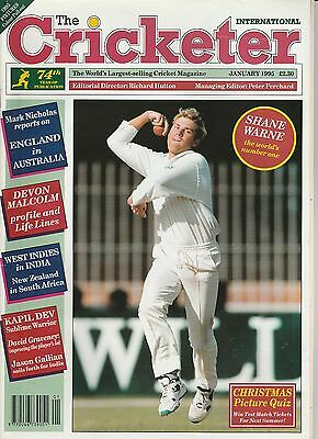 Cricketer Magazine (Wisden) - January 1995 - Shane Warne