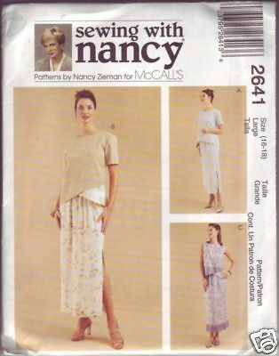 McCall's #2641 Misses' two-piece dress sewing size Large 16 - 18 copyright 2000