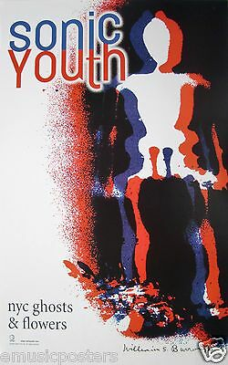 "SONIC YOUTH ""NYC GHOSTS & FLOWERS"" U.S. PROMO POSTER - Alternative/Indie Rock"